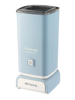 ARIETE 2878/05 Vintage Cappuccino - modrý zpěňovač mléka